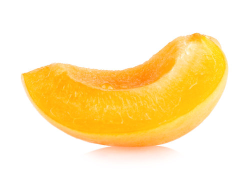 apricot slice isolated on white background