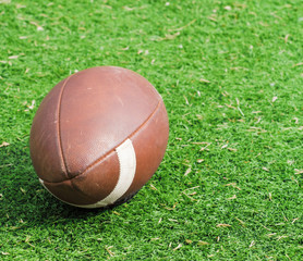 Rugby (american football) ball.