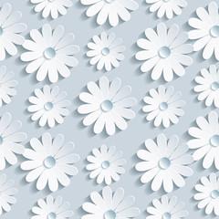 Kwiatowy wzór z białego rumianku