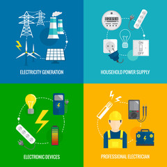 Electricity energy concept