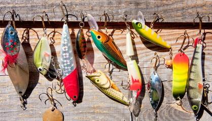 Tuinposter Vissen fishing tackle