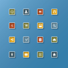 Set of web icons in clean modern design