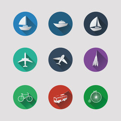 Flat UI Icons for Web and Mobile Applications - Transportation