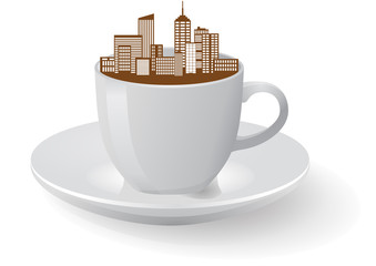 city coffee cup