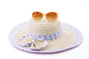 Beach hat isolated white background