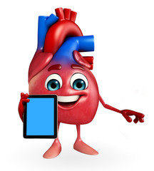 Heart character with mobile
