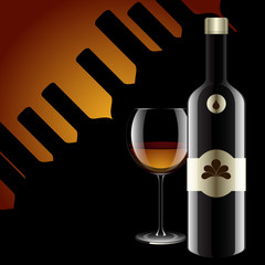 Realistic vector bottles. glass and reflection luxury style with