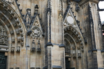Antique gothic architecture church building