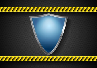 Abstract protection vector design with danger tape
