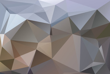 Abstract polygonal background white brown