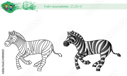 Ausmalbild Zebra Stockfotos Und Lizenzfreie Vektoren Auf Fotolia