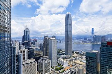 Fotobehang Hong-Kong Modern Buildings in Hong Kong finance district