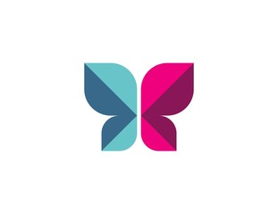 butterfly logo, fashion design, creative vector insect icon