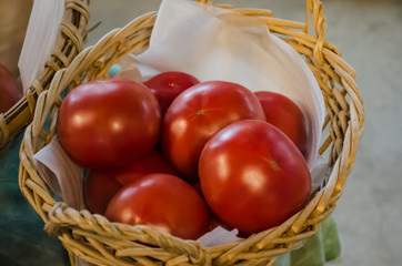 king tomatoes on basket