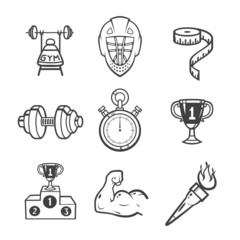 Collection of sport icons.