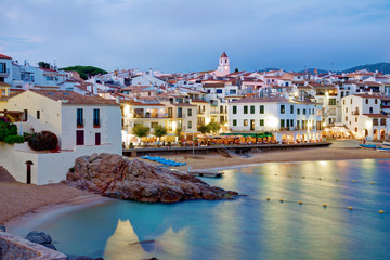 Calella de Palafrugell at night, Costa brava, Catalonia, Spain