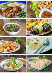Collection of Collage from Photographs of thai food