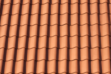 Orange roof tiles , pattern image.