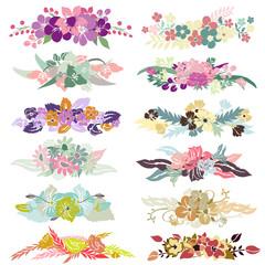12 floral bouquets