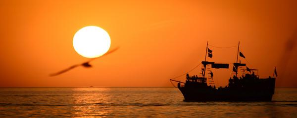 Ship in the ocean