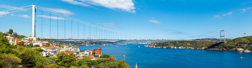 Keuken foto achterwand Brug the bridge on Bosphorus