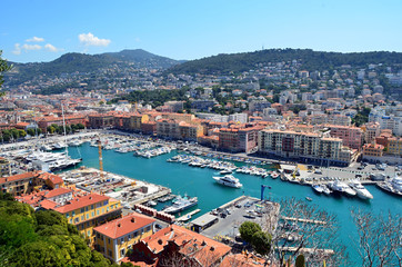 nice city port in france photo