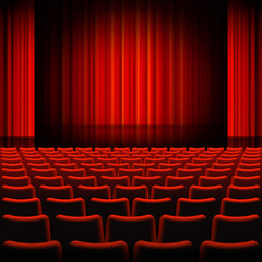Keuken foto achterwand Theater Red Curtains Theater Stage