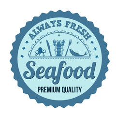 Seafood label, sign or stamp