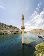 Sunken Village Savasan in Halfeti, Sanliurfa Turkey