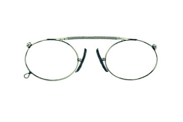 theatrical eyeglasses on a white background