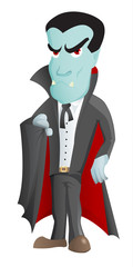 Cartoon Vampire Character - vector