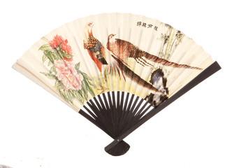 vintage oriental fan