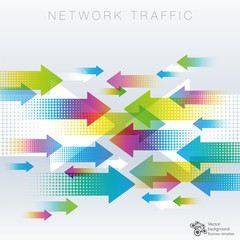 Network Traffic, Data, Information Image #Vector Graphics