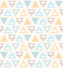 Seamless pattern with colored triangles.