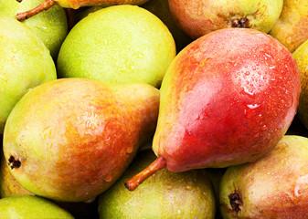 Wall Mural - ripe juicy pears