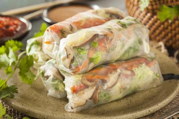 Fototapeta Healthy Vegetarian Spring Rolls obraz