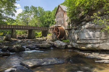 Foto op Canvas Molens Glade Creek Grist Mill