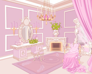 Canvas Prints Fairytale World Princess dressing room