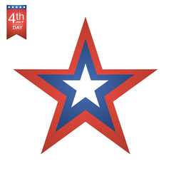 4th of July American independence day illustration