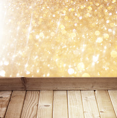 abstract photo of light burst and glitter bokeh lights. image is
