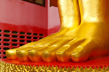 Buddha statues at the temple in Thailand
