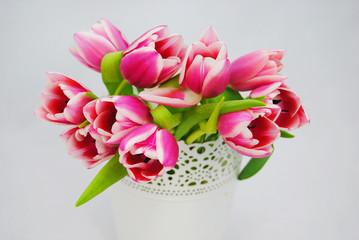 Mooi bos roze tulpen