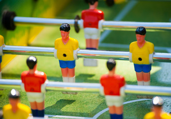 plastic table football game