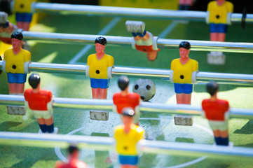 plastic table football game