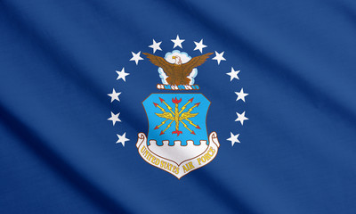 Waving flag of US Air Force