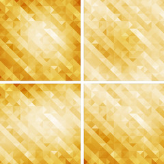yellow retro style geometric pattern