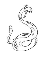cartoon snake, vector illustration
