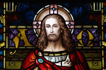 Jesus Christ in stained glass