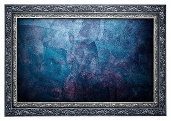 abstract paint with frame