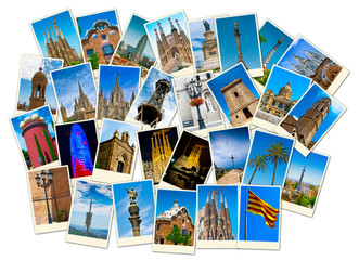 Stack of Spain travel images